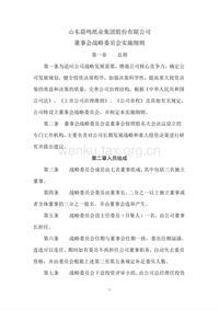 晨鸣纸业董事会战略委员会实施细则
