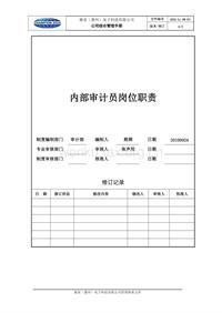 内部审计员职责(参考)
