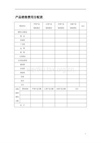 产品销售费用分配表 (2)
