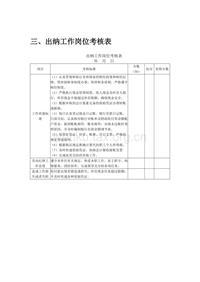 出纳工作岗位考核表(2)