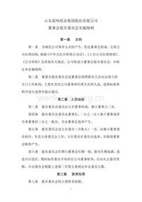 晨鸣纸业董事会提名委员会实施细则