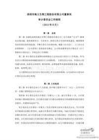 海王生物:董事局审计委员会工作细则