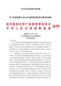 4中央企业内部控制体系的构建