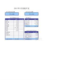 家庭收支管理表2