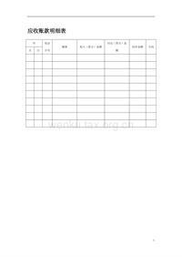 应收账款明细表(2)